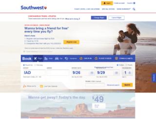 travel.southwest.com screenshot