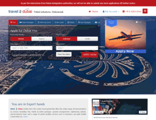 travel2dubai.com screenshot