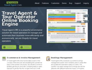travelagentcms.com screenshot