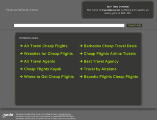 travelated.com screenshot