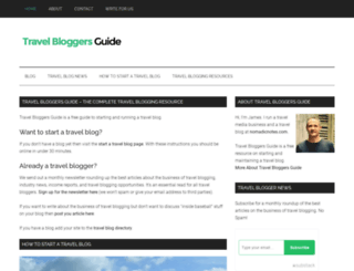 travelbloggersguide.com screenshot
