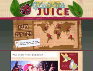 travelbugjuice.com screenshot