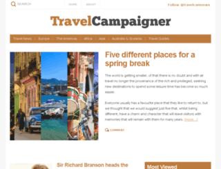 travelcampaigner.com screenshot