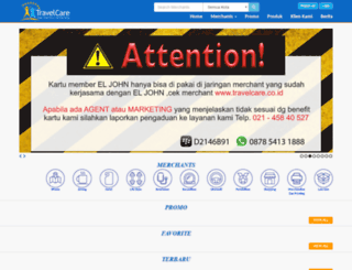 travelcare.co.id screenshot