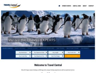 travelcentral.com.au screenshot