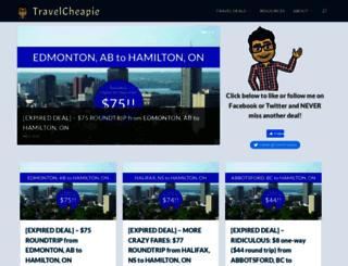 travelcheapie.com screenshot