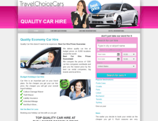 travelchoicecars.com screenshot