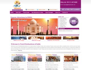traveldestinationsofindia.com screenshot