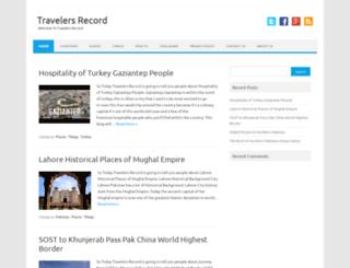 travelersrecord.com screenshot