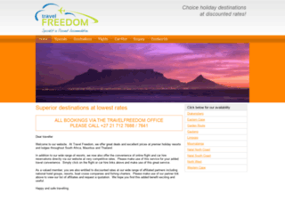 travelfreedom.co.za screenshot