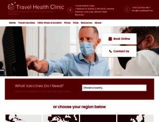 travelhealth.ie screenshot