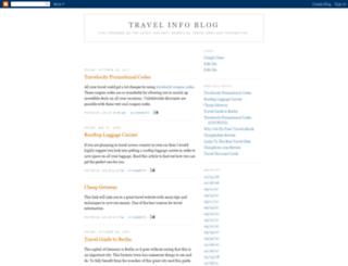 travelinfoblog101.blogspot.com screenshot