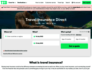 travelinsurancedirect.com.au screenshot