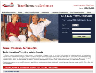 travelinsuranceseniors.ca screenshot