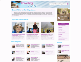travellingalone.co.uk screenshot