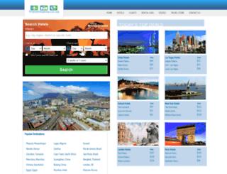 travelmania.co.za screenshot