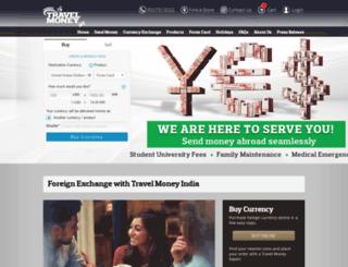 travelmoney.in screenshot