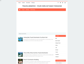 travelobserve.com screenshot