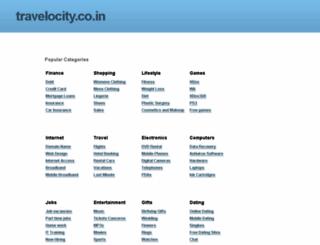 travelocity.co.in screenshot