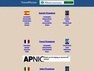 travelphrase.com screenshot