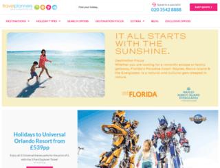 travelplanners.co.uk screenshot