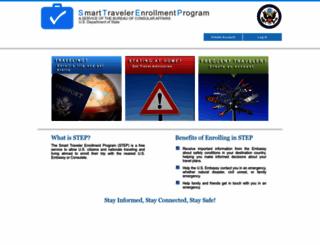travelregistration.state.gov screenshot