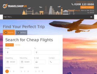 travelshopuk.co.uk screenshot