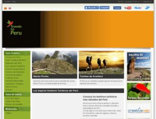 travelstoperu.com screenshot