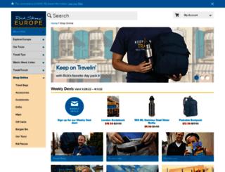 travelstore.ricksteves.com screenshot