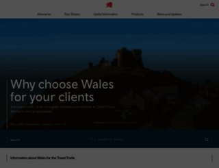 traveltrade.visitwales.com screenshot