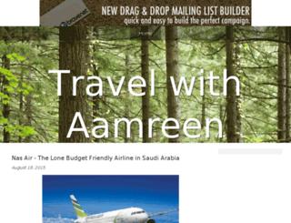 travelwithaamreen.bravesites.com screenshot