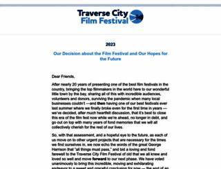 traversecityfilmfest.org screenshot