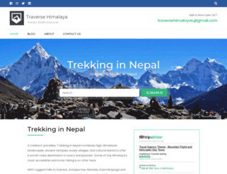 traversehimalaya.com screenshot