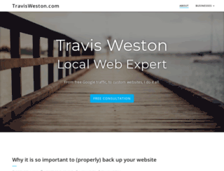 travisweston.com screenshot
