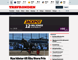 travronden.se screenshot