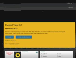 traxx.fm screenshot