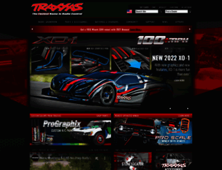 traxxas.com screenshot