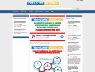 treasurereading.com screenshot