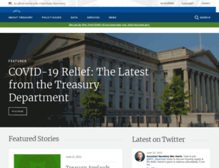 treasury.gov screenshot