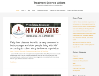 treatmentsciencewriters.com screenshot