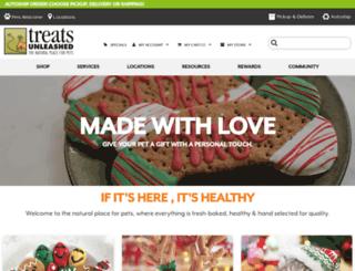treats-unleashed.com screenshot