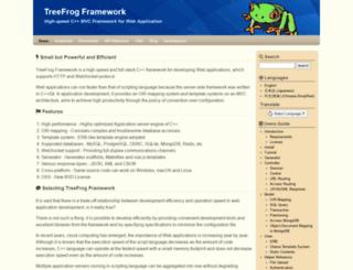 treefrogframework.org screenshot