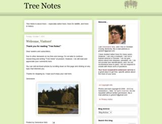 treenotes.blogspot.com screenshot