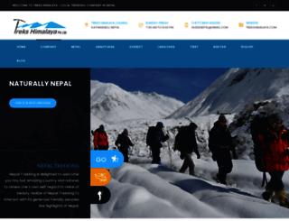 trekshimalaya.com screenshot