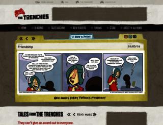 trenchescomic.com screenshot