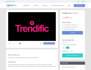 trendific.com screenshot