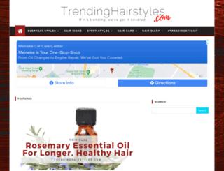 trendinghairstyles.com screenshot