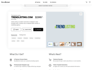 trendlisting.com screenshot