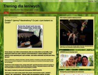trening-dla-leniwych.blogspot.com screenshot