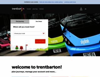 trentbarton.co.uk screenshot